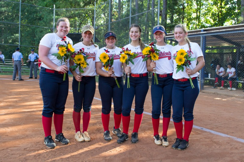 DHS softball Senior Night